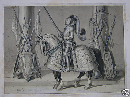 FRENCH ILLUS GALITZIN MIDDLE AGE ARMOUR GERMANY ZWECKER