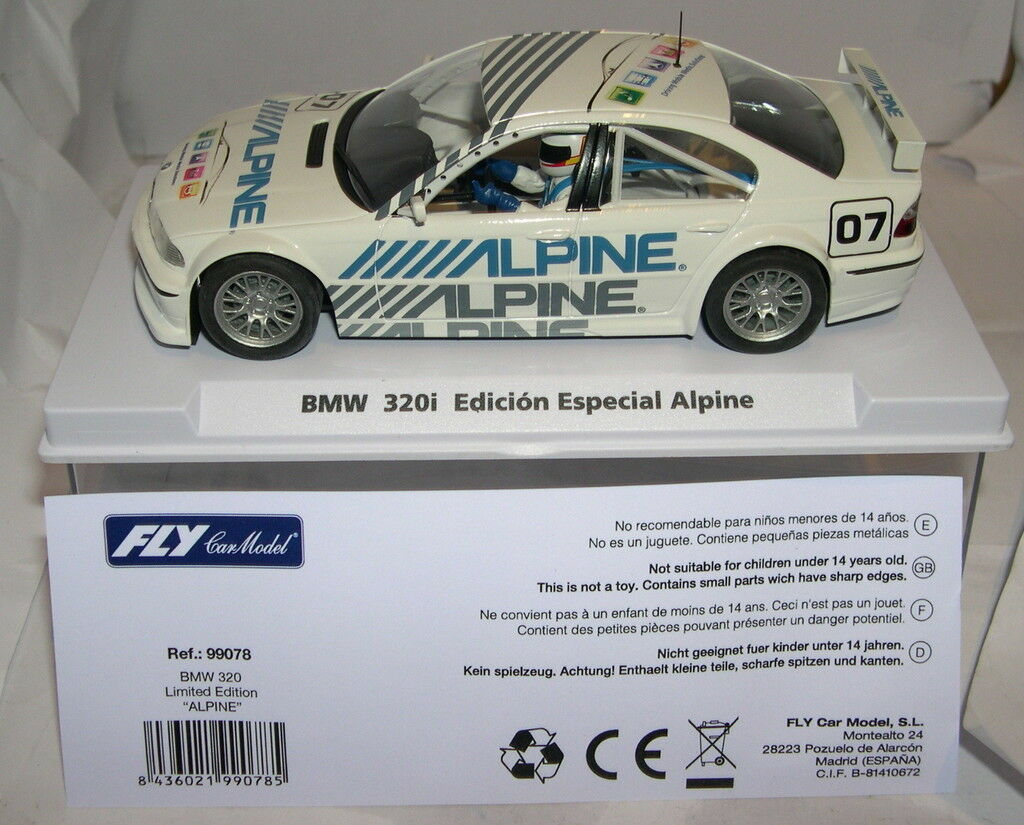 FLY 99078 BMW 320I 07 EDITION SPÉCIAL SPÉCIAL SPÉCIAL ALPINE EDITION LIMITÉE MB d14cac