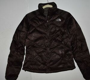 9fa30d2f0 Details about THE NORTH FACE Quilted 550 Down Puffer Winter Jacket Womens  Brown S