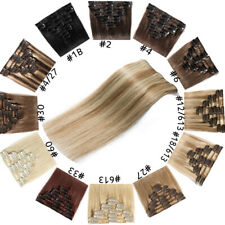 Real Cheap Price Clip In 100% Remy Human Hair Extensions Full Head US Stock F415