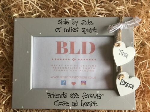 Personalised Side By Side Friendship Picture Photo Frame Keepsake Gift 6x4 Size