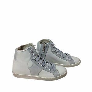 Dettagli su scarpe sneakers alte uomo pelle bianca Via Condotti stella ghiaccio made in ita