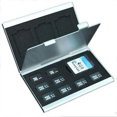Metal Aluminum Micro SD TF MMC Memory Card Storage Box Protecter Case Holder