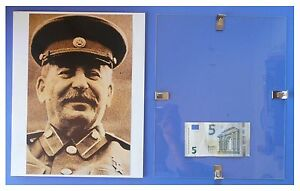 STALIN-primo-maggio-1945-Russia-URSS-Comunismo-quadro-cornice-vetro-cm-30x24