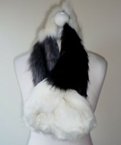 Cream Grey Black Faux Fur Stole Neck Collar Wrap Shrug Scarf Evening ... 7db822887d126