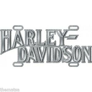 HARLEY-DAVIDSON-MOTORCYCLE-DIE-CAST-CHROME-CAR-METAL-LICENSE-PLATE-MADE-USA