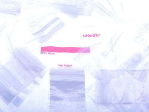 "100 3x3/"" 4 Mil Ziploc Poly Plastic Bags Small Parts Zipper Zip Close Packaging"
