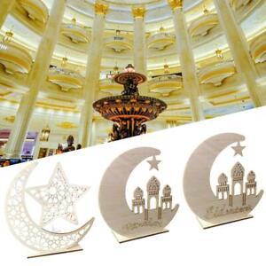 Wooden Eid Mubarak Ramadan Ornament Muslim Islamic Gift DIY Home Party Decor UK
