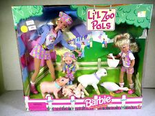 NIB BARBIE DOLL 1998 LI'L ZOO PALS BARBIE STACIE KELLY