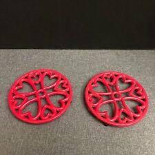 Round Cast Iron Trivets Set of 2 Creative Co Op DA2572A
