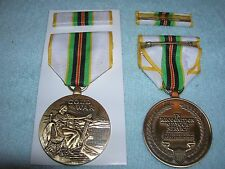 Full Size Cold War Victory Pin Back Medal With Ribbon Bar US Army USN USAF USMC