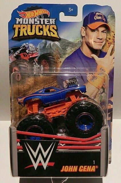 HOT WHEELS Mattel Monster Trucks WWE John Cena #1 NEW ON CARD GCR92
