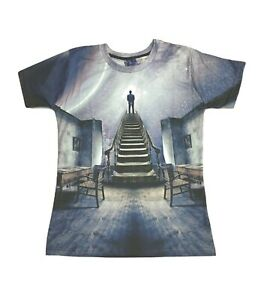 Stairway-To-The-Stars-T-Shirt-Etoiles-Art-Peinture-Cool-All-Over-Print-T-Shirt