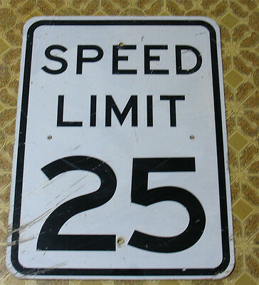 "SPEED LIMIT 25 Real Road Street Sign, Measures 18"" X 24"" Vinyl Characters"