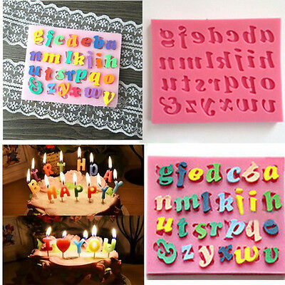 DIY Silicone Letter Cake Mould Mat Fondant Sugar Craft Mold  Decorating Tools