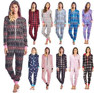 d04c03248 Ashford   Brooks Women s Micro Fleece Hooded One Piece Pajama Union ...