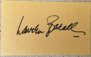 Lauren-Bacall-Signed-3-x-5-yellow-index-card-Autographed-Unlined-Dark-Passage