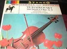 PETER RYBAR Tchaikovsky Violin Concerto LP WHITEHALL STEREO RARE VIOLIN