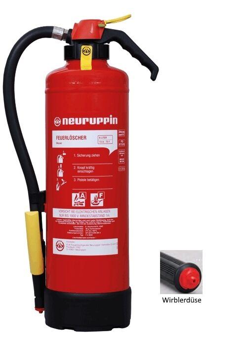 Fettbrand Auflade-Feuerlöscher F6SKM Neuruppin, 13A 75F 4LE, 6Liter, Küche Labor