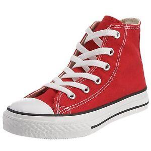 e9e833438bf9 Converse Chuck Taylor Red White Youth Boy Girl Hi Kids Canvas Shoes ...