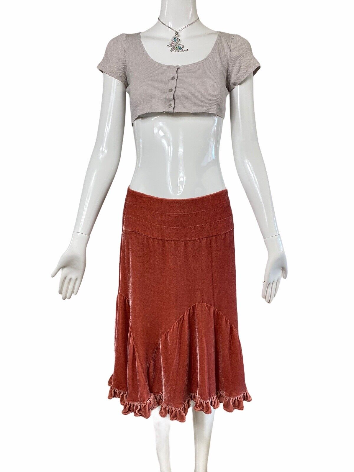 Fairycore Grunge Ribbed Crop Top Y2k 90s Aesthetic - image 3