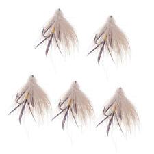 x 6 Fly Fishing Flies Bass, Bream, Trout, Salmon, Perch CH Muddler Minnow