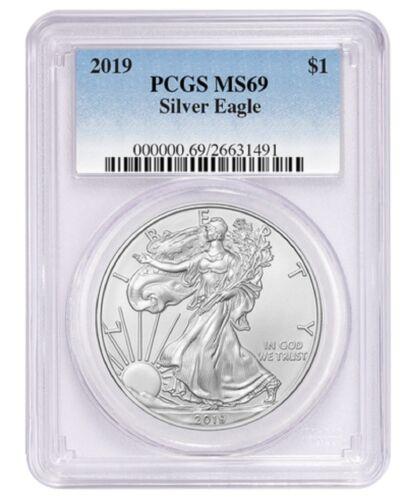 2019 1oz Silver Eagle PCGS MS69 Blue Label