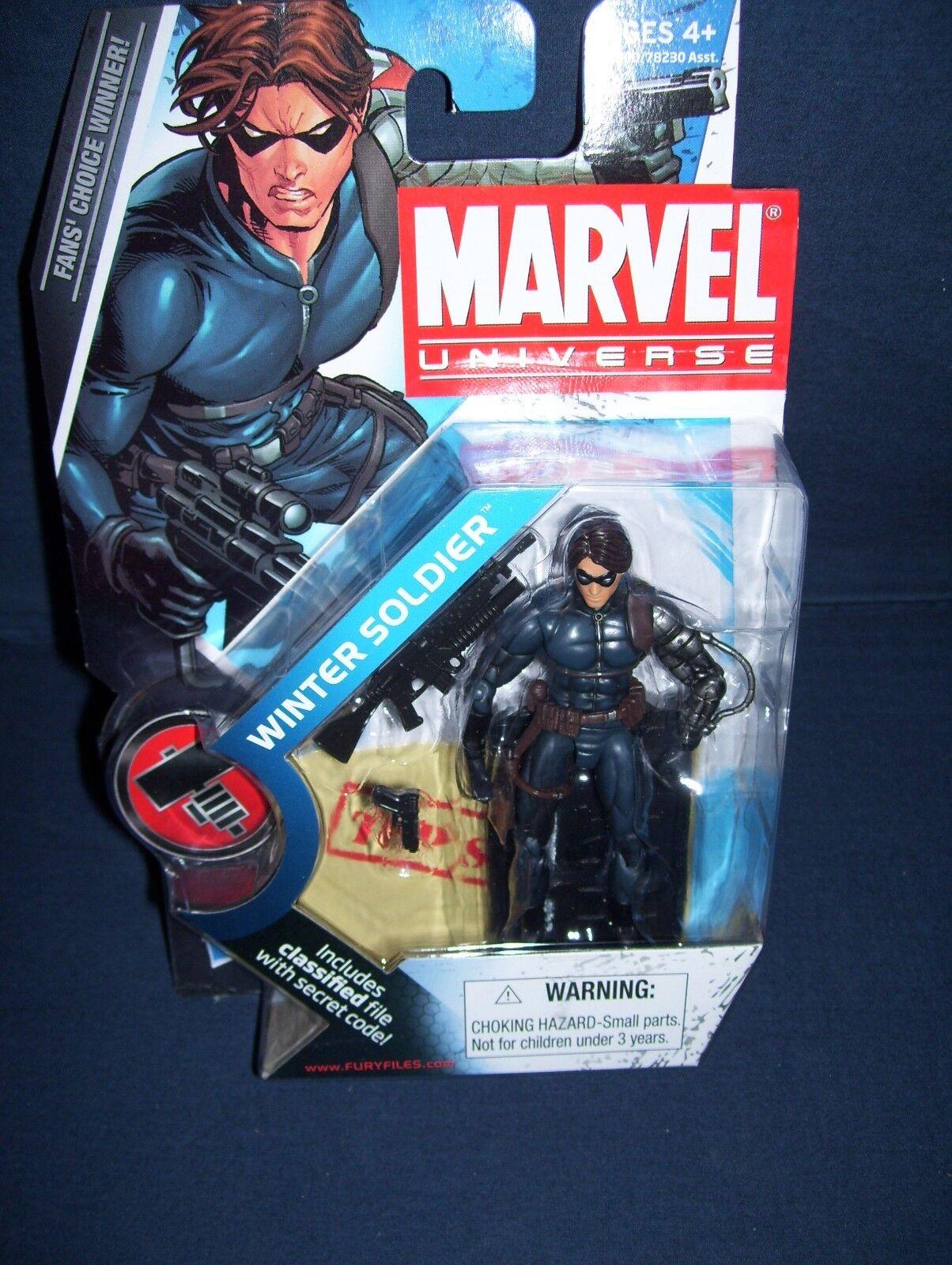 Marvel Universe Winter Soldier 3 3 4 Action Figure Series 2 Hasbro  NIB