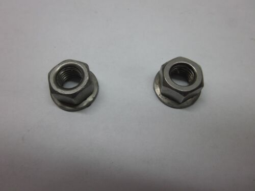 PAIR JOHNSON EVINRUDE 328742 CARBURETOR NUTS 20 TO 75 HP MANY YEARS 1968-2000