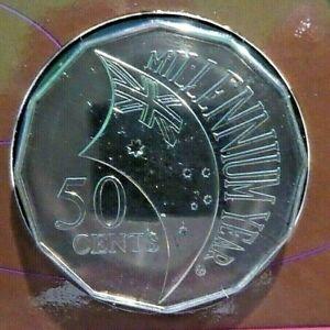 2000 Australian Fifty cent 50c coin - MILLENNIUM FLAG - UNC ex mint set