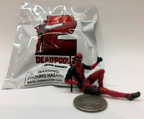 "Deadpool Minifigure RARE Movie Promo Deadpool 2 Marvel 2.75/"" USA Fast ShpNIP"