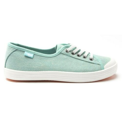 New Womens Rocket Dog Green Chow Chow Canvas Trainers Plimsolls Lace Up
