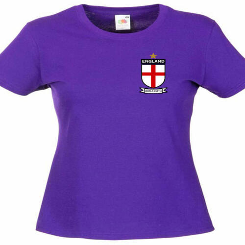England World Cup 2018 Inspired Ladies Lady Fit T Shirt 13 Colours Size 6-16