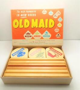 Merdel-Game-Mfg-Old-Maid-Wooden-Game-Stands-Panel-Cards-No-65-Indian-Boy-Scout