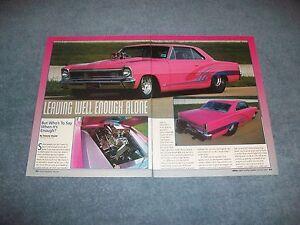 Details about Larry Larson 1966 Chevy II Nova Drag Car Article