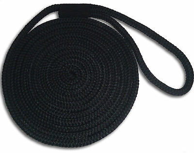 """Made in USA Navy 5//8/"""" x 15/' Double Braid Nylon Dock Lines"""