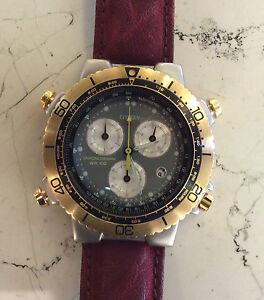 Citizen-Chronograph-WR-100-orologio-nuovo-vintage-anni-90-cassa-acciaio-mm-40-00