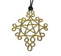 Pentacle Pendant Necklace Bronze Brass Wicken Charm Holder Pentagram Usa Made