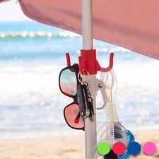 Kleiderhaken für den Sonnenschirm Schirm Garderobe 3 Haken Ablage Strand Baden .