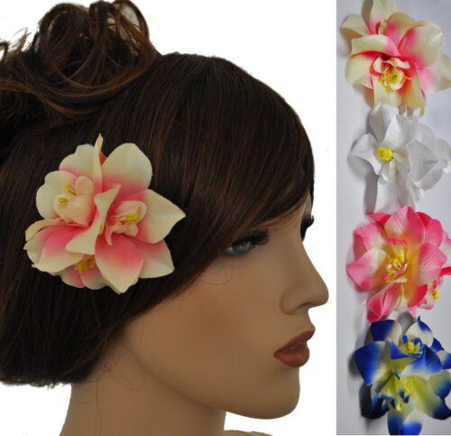 Haarclip Blume Hawaii Haarklammer Brosche Ansteckblume 4 Farben zur Auswahl NEU