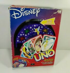 Disney UNO Lights and Sounds Card Game Mattel 2001 Nearly Complete