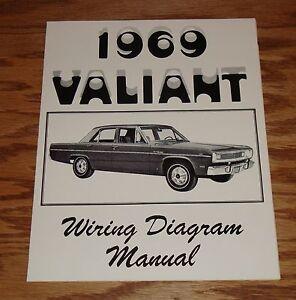 1969 Plymouth Valiant Wiring Diagram Manual 69 | eBay