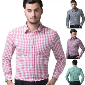 Muscle-Mens-Luxury-Stylish-Casual-Dress-Shirts-Tops-Slim-Fit-Shirts-6-colors-hot