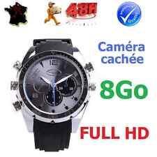 MONTRE CAMERA CACHEE ESPION FULL HD VIDEO1920x1080 VISION NOCTURNE ETANCHE 8Go