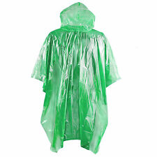 Waterproof Rain Poncho Camping Festival Emergency Pocket Disposable Raincoat