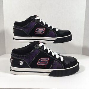Skechers SKX Skateboard Shoes Black Red