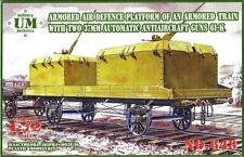 ARMORED AIR DEFENSE PLATFORM OF AN ARMORED TRAIN 1/72 UNIMODEL UMT 648