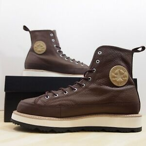 59c28c4fec0b Converse CT Crafted Boot HI Men s Size 11 Chocolate Leather 162354C ...
