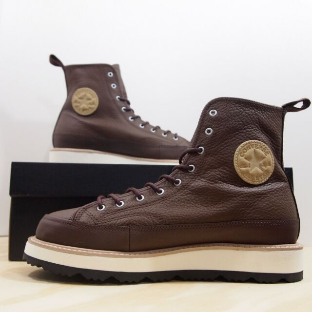Converse Ct Crafted Boot Hi Chocolate Leather Size US 10 Men 162354C Chuck