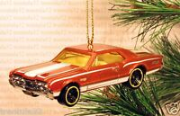1967 Olds 442 '67 Oldsmobile Christmas Ornament Orange/white Rare Xmas